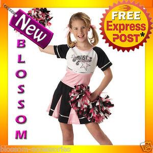 CK64-All-Star-Cheerleader-Sports-Girls-Halloween-Fancy-Dress-Up-Party-Costume