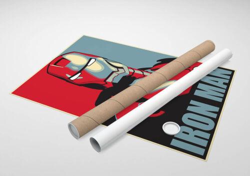 Poster Shepard Fairey Iron Man Marvel Avengers Impression Fine Art Hi-Res