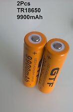 2 PILES ACCU RECHARGEABLE TR 18650 3.7v Li-ion BATTERIE