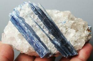 Beautiful Natural Blue Quartz Crystal Cluster kyanite Gem Mineral Specimen