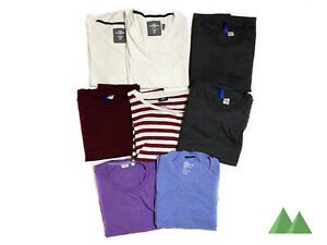 7 ASSORTED H&M AND UNIQLO TEES STRIPED PLAIN PURPLE BLUE WHITE GREY NAVY L XL