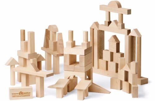 Maple Landmark Wooden Building Blocks Advanced Builder 78 pieces