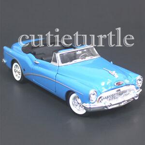 Welly-1953-Buick-Skylark-Convertible-1-24-Diecast-Model-Car-24027-Light-Blue