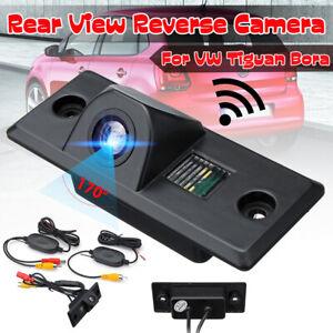 Wireless-Rear-View-Reversing-Camera-170-For-VW-Tiguan-Golf-Mk4-Bora-Skoda-Fabia