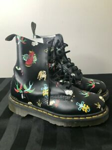Details About Dr Martens Pascal Tattoo Boots Men Size 4 Women Size 5