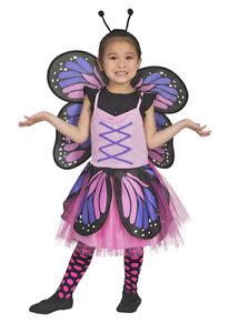 Schmetterling Belle Kostüm für Mädchen - Pink Tier Butterfly Keid Flügel Fühler