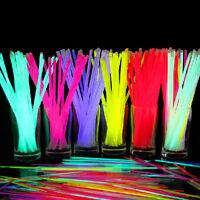 100/200Pcs Multi Color Glow Stick Light Sticks Bracelets Party Fun Glow Bracelet