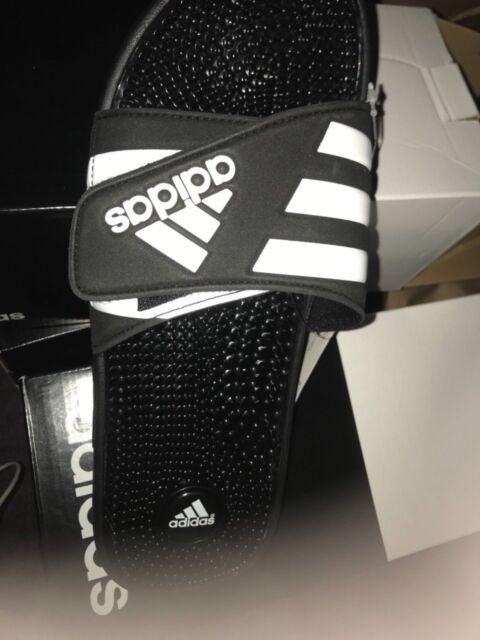 9fe626296754 Mens Adidas Adissage Black Slides Shower Athletic Sport Sandals 078260 Sze  11