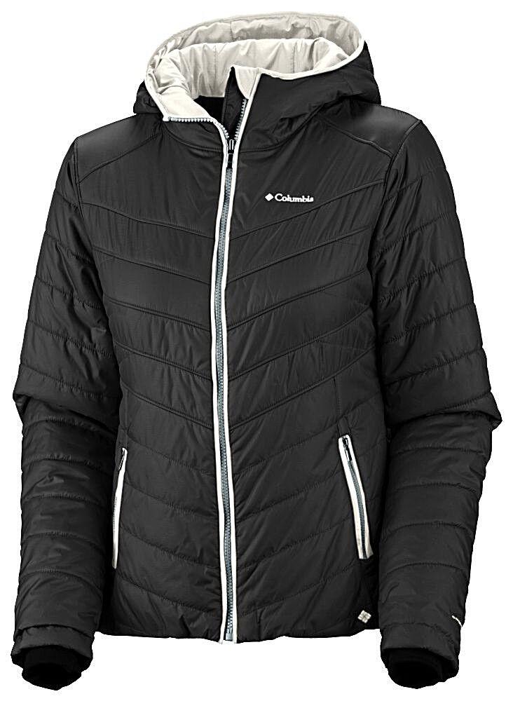 Columbia Damen Funktions Steppjacke Jacke mit Kapuze schwarz Gr. M 38 40 NEU