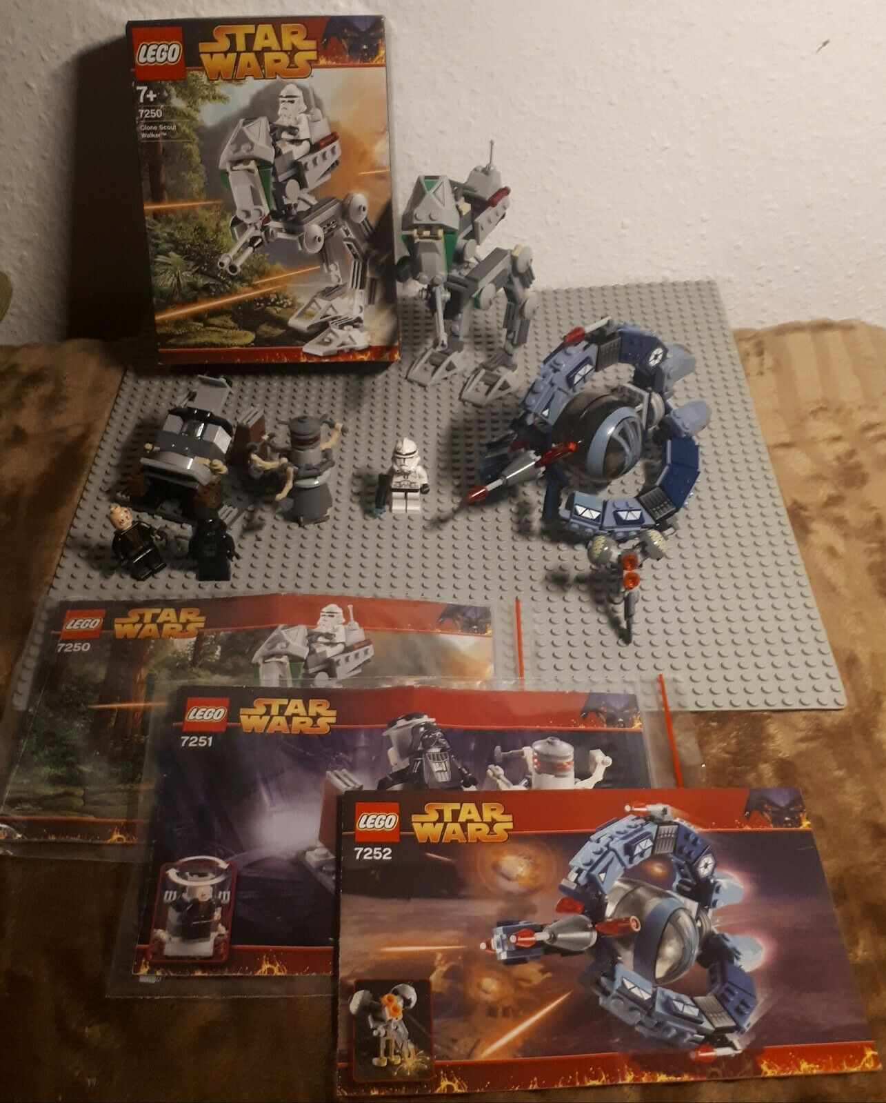 Lego Starwars 7250; 7251 & 7252 2005er Welle