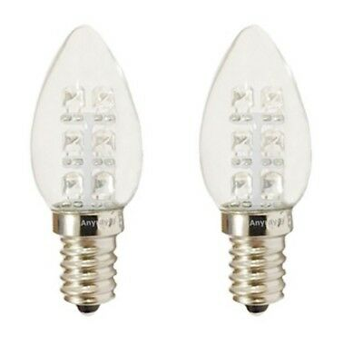 Anyray A-C7E12LCW C7 LED Night Light bulb 120V E12 Candelabra 0.5Watt Cool White