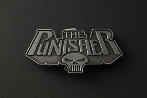THE PUNISHER CLASSIC LOGO SKULL SOLID GREY BELT BUCKLE