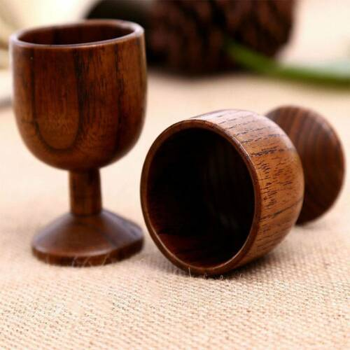 1pc Handmade Wooden Wine Tea Cup Drinking Water Goblet Cup Tableware Cup Hot