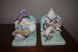 nursery bookends hey diddle diddle cat  the fiddle cow