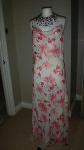Beautiful-John-Lewis-JFW-100-Silk-Maxi-Dress-Size-UK-14