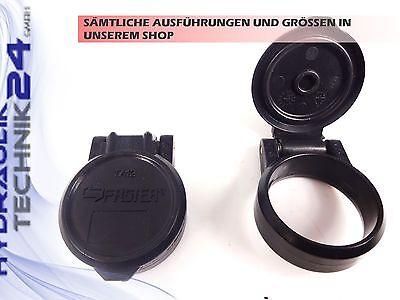 Staubschutz-Klappe Hydraulik Kupplung Muffe BG3 Schwarz FASTER