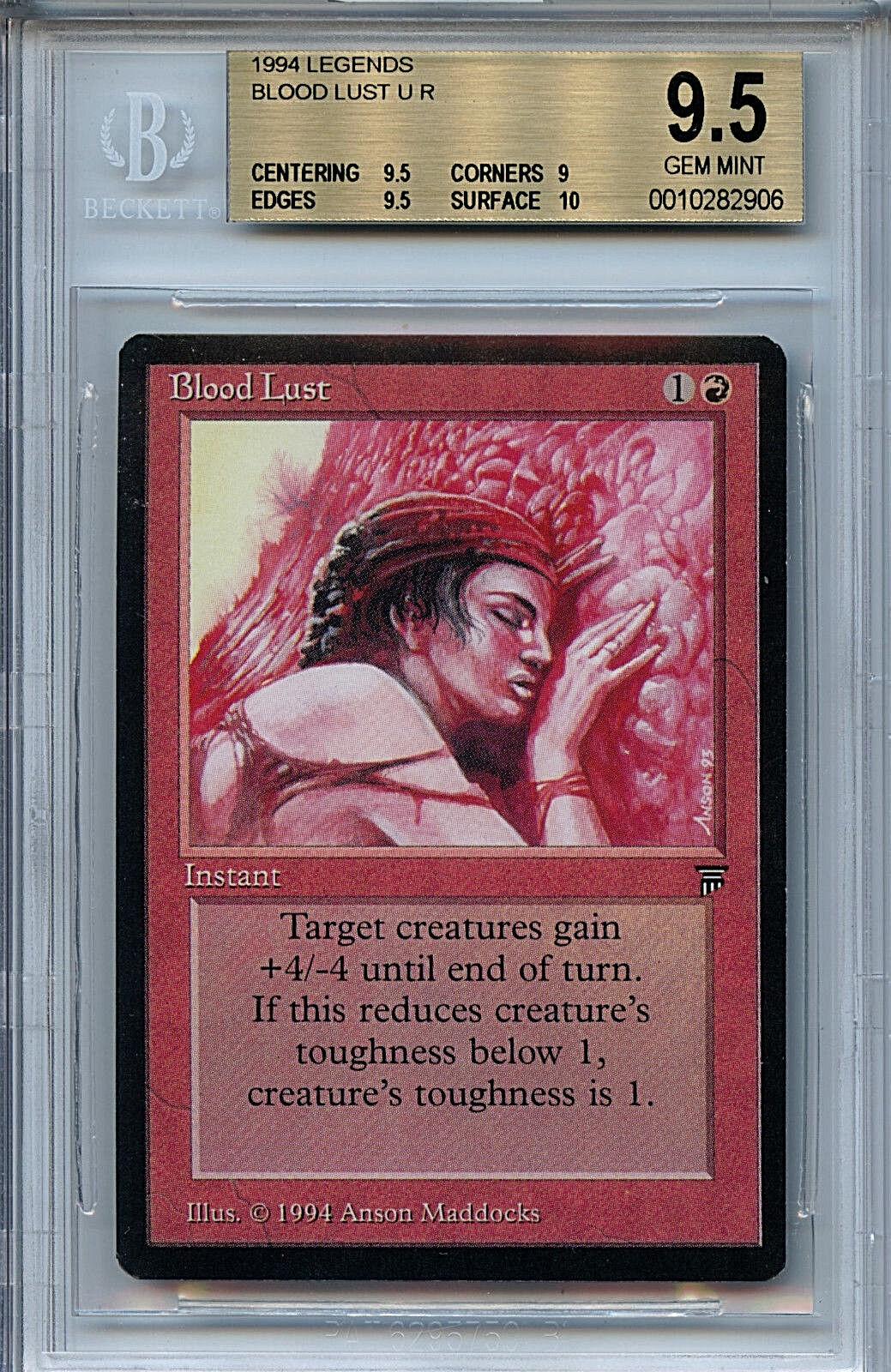 Mtg - legenden Blautrnstigkeit bgs 9,5 gem - karte sammeln wotc 2906 magie