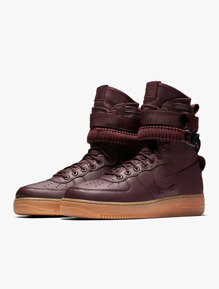 Nike Special Field SF Air Force 1 Deep Burgundy Mens Size 8.5 (864024-600) New