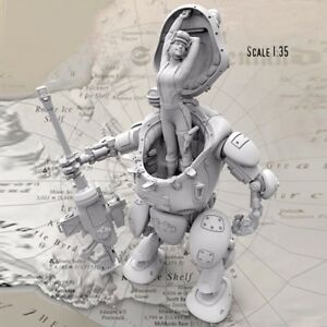 1-35-Resin-Mechanic-Female-Soldier-Robot-Fighter-Unpainted-NO-GUIDE