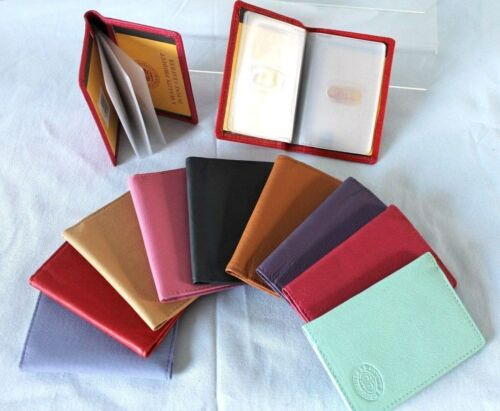 Soft Leather Credit Card Travel Holder Various Colours Oyster Tram Rail Card