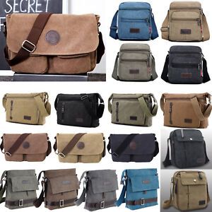 c40b9dad8f Image is loading Men-Military-Vintage-Canvas-Messenger-Shoulder-Bags-Hiking-