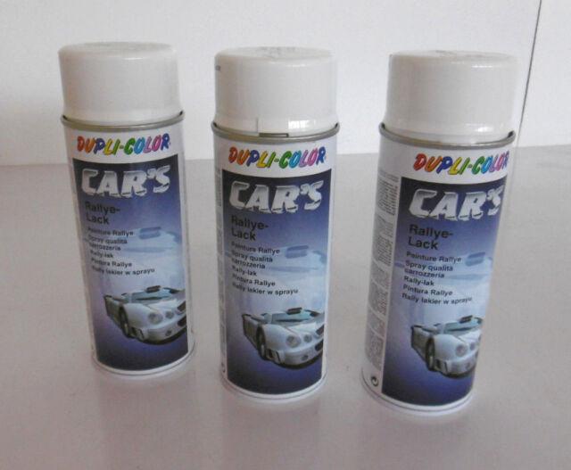 8,25€/ Liter incl. Mwst.  3x 400ml Dupli Color Rallye Lack weiß glänzend Spray