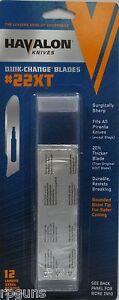 NEW-Havalon-Knives-Piranta-Torch-Knife-replacement-2-1-8-034-12-blades-HV22XTDZ