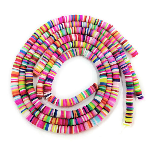 Handmade Beads Disc Heishi Accessories Polymer Clay DIY Spacer Crafting Loose