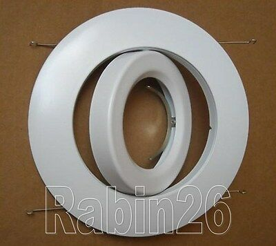 """6/"""" INCH PAR30  ADJUSTABLE GIMBAL RING TRIM WHITE RECESSED CAN LIGHT"""