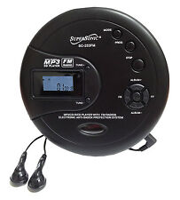 Supersonic Personal CD Disc Player w/MP3 FM Scan Radio 120 Sec Anti-shock SC-253