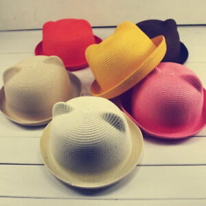 2834d0709 Details about Summer Baby Kids Boy Girls Hat Cap Summer Children Breathable  Straw Sun Hats UK