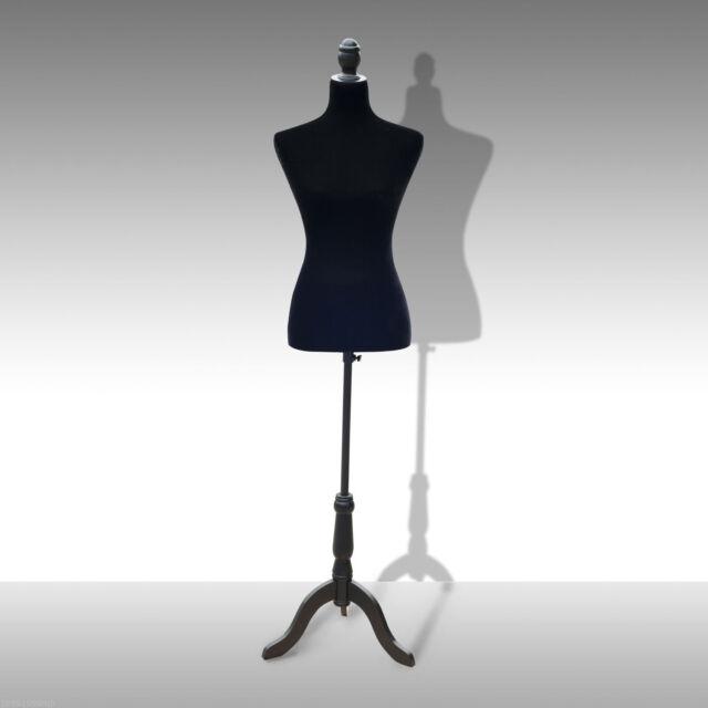 Female Mannequin Dress Form Torso Dressmaker Stand Display Black