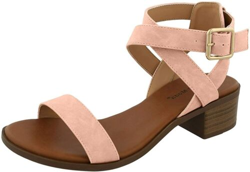 Details about  /Top Moda Women/'s Vision-75 Ankle Strap Open Toe Heeled Sandal