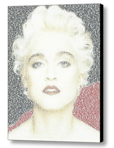 Madonna Like A Virgin Lyrics Incredible Mosaic Framed Print Limited Edition COA