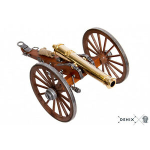 "Civil War Cannon 24K Gold Plated Metal Built Model 9.8"" USA 1857 Field Artillery"