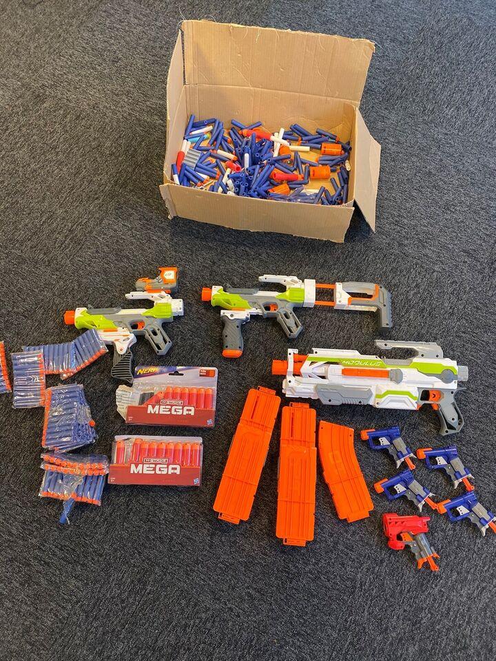 Lægesæt, Forskellige Nerf Guns med masser af skud