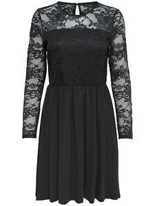 ONLY Damen Spitzenkleid Kleid onlNEW INA DRESS Spitze