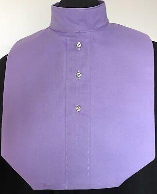 English Hunt Seat Ratcatcher Style Purple AB Button Show Bib Dickie