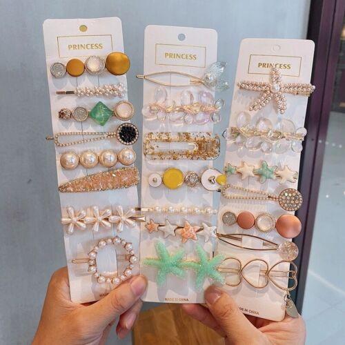 Women/'s Pearl Hair Clips Clip Snap Hair Clip Barrette Hairpin Hair Accessories
