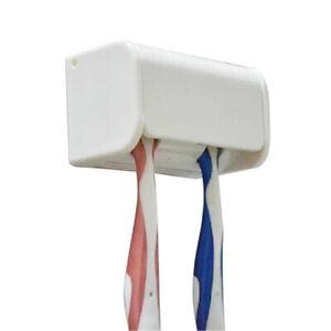 Wall-Mount-Anti-dust-2-Head-Toothbrush-Holder-Bathroom-Organizer-Storage-YA
