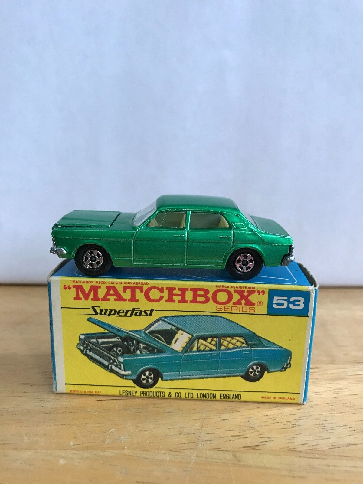VINTAGE LESNEY MATCHBOX FORD ZODIAC   53