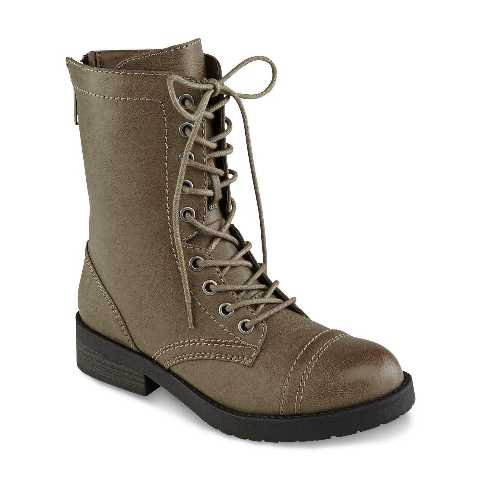 Joe Boxer Women's Brown Alabama Mid-Calf Combat  Boots Size 10 Medium
