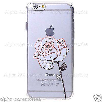 para iPhone 7 Fino Suave Diamante Sintético Impreso Gel de Silicona Brillante