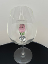 The 3D Stemmed Rose Wine Glass™ Crystal - Featured On Delish.com, HouseBeautiful