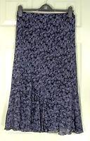 NWT Laura Ashley Purple and Steel Multi Floral Skirt UK 8 EUR 34 US 4