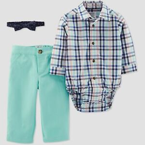 Carters 18 Months Easter Bow Tie Shirt Bodysuit Pant Set Baby Boy Clothes Ebay