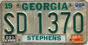 1980-039-s-Georgia-STEPHENS-County-American-License-Licence-Number-Plate-SD-1370