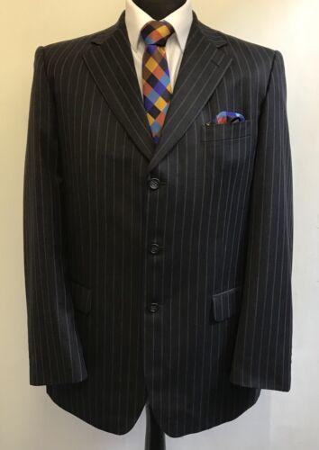 Men's Ms2102 Size 42l Brook Taverner Blazer Jacket Charcoal Striped rO1nROwpqE
