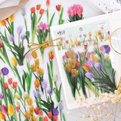 Kawaii Tier Pflanze Aufkleber Set Zettel DIY Basteln Scrapbook Tagebuch Alben
