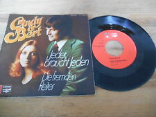 """7"""" Schlager Cindy & Bert - Jeder braucht jeden / D fremden Reiter (2 Song) BASF"""